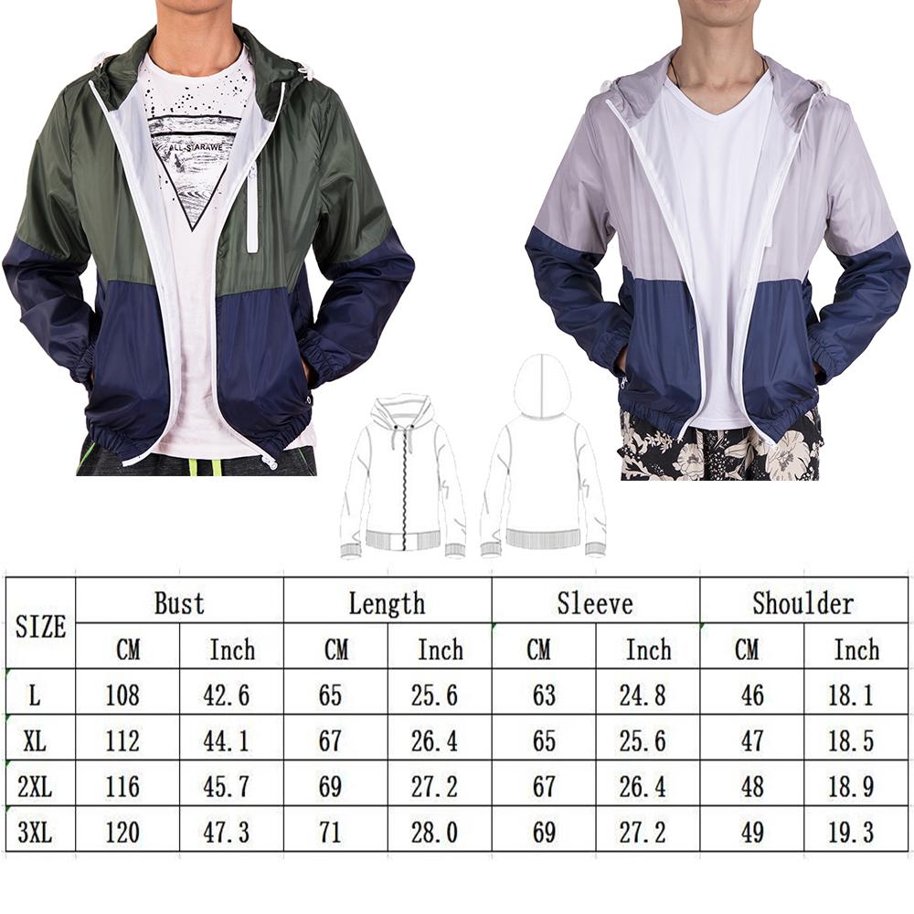 Waterproof-Windbreaker-Zip-Jacket-Hoodie-Light-Sports-Men-039-s-Riding-Outwear-Coat thumbnail 20