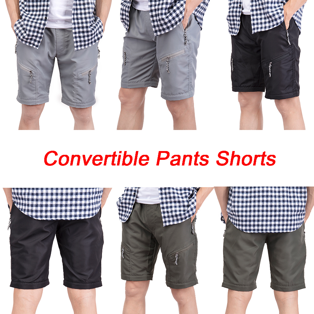 US-MENS-CONVERTIBLE-PANTS-QUICK-DRY-ZIP-OFF-SHORTS-OUTDOOR-HIKING-TROUSERS-S-3XL thumbnail 4