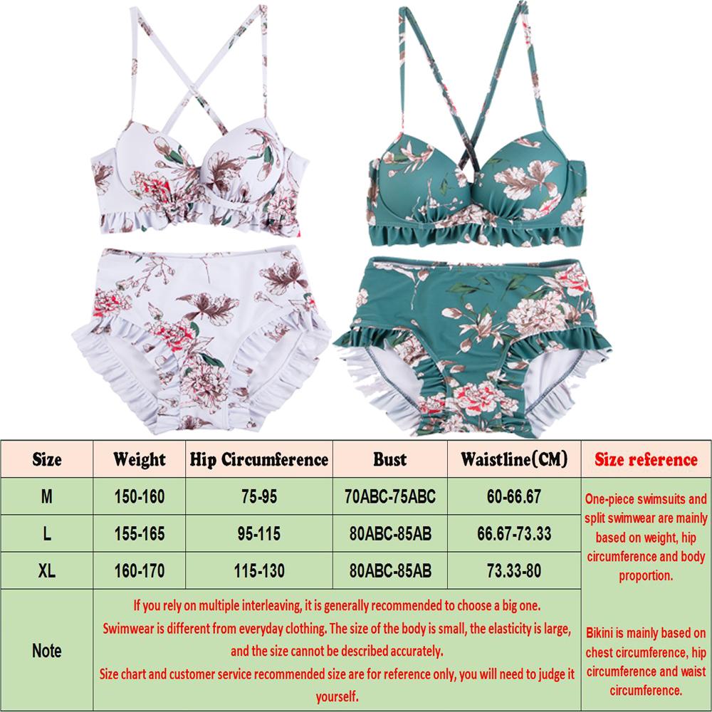 NEW-Women-Floral-Print-Sundress-One-piece-Tankini-Swim-Dress-Swimsuit-Bikini-Set thumbnail 12