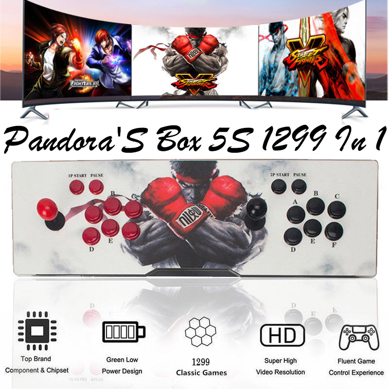 1299 Pandora\'s Box 5S Latest Games Double Joystick Arcade Console ...
