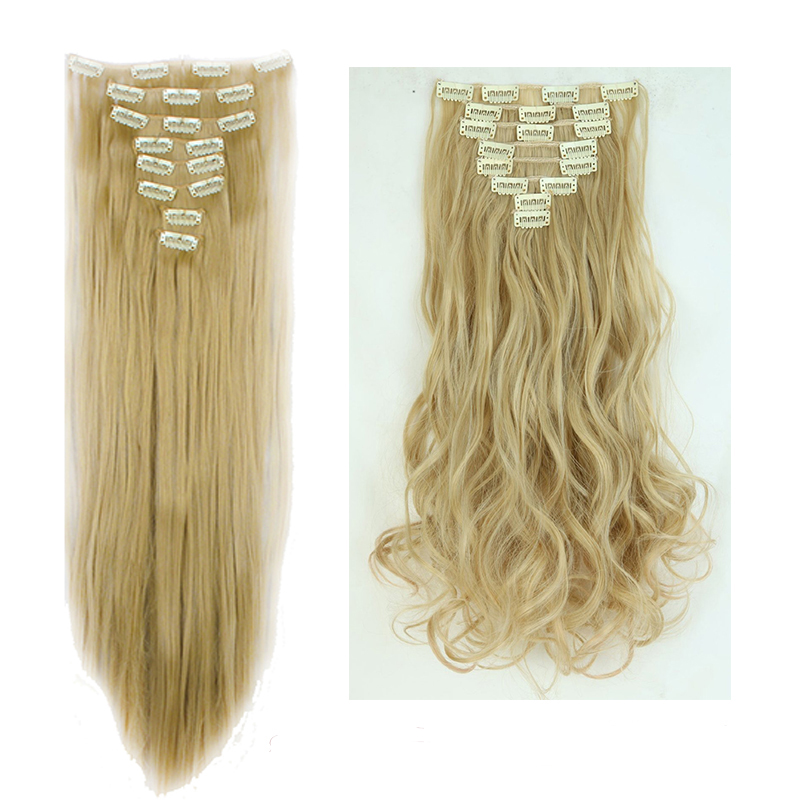 100natural Hair Full Head Clip In Women Head As Human Synthetic