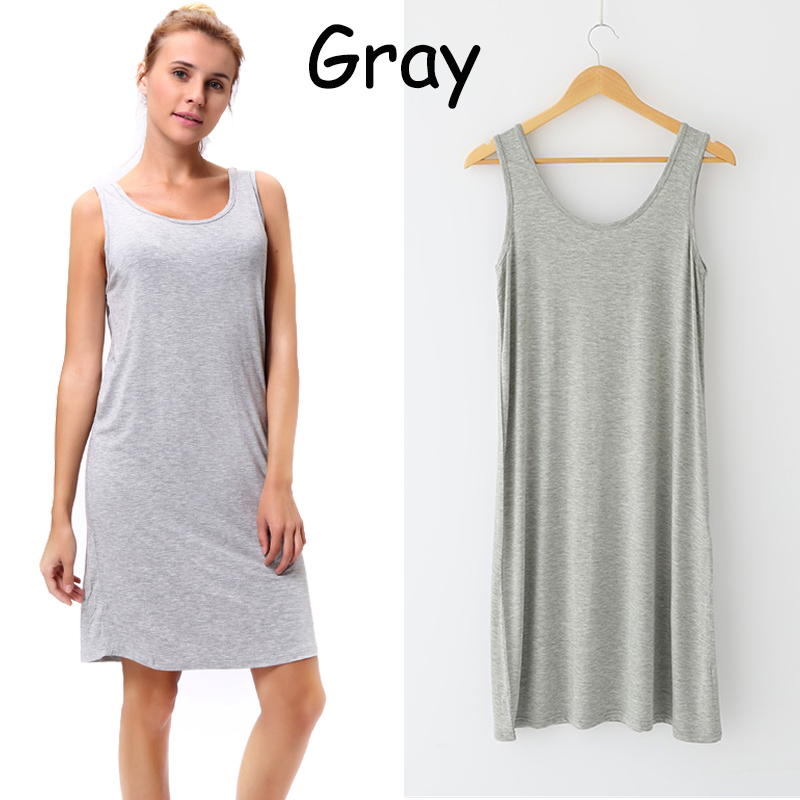 US Women's Scoop Neck Slim Fit Sleeveless Stretchy Tank ...