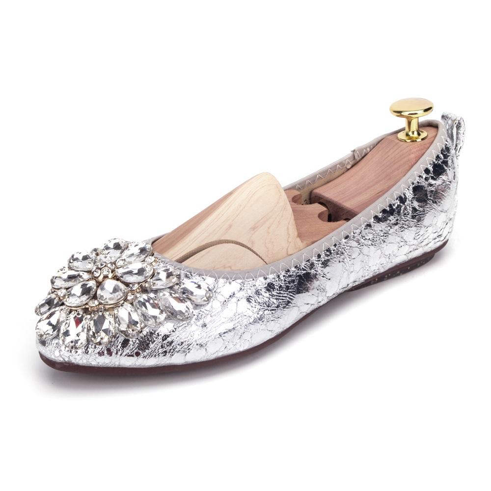 2d7c0377f60568 Flat Shoes Fashion Rhinestone Women Flats Casual Ballet Flats Fold ...