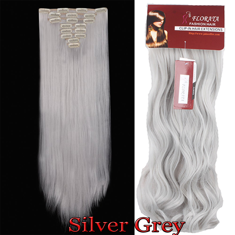 Us Fashion Clip In Hair Extensions Synthetic Full Head Look As Remy