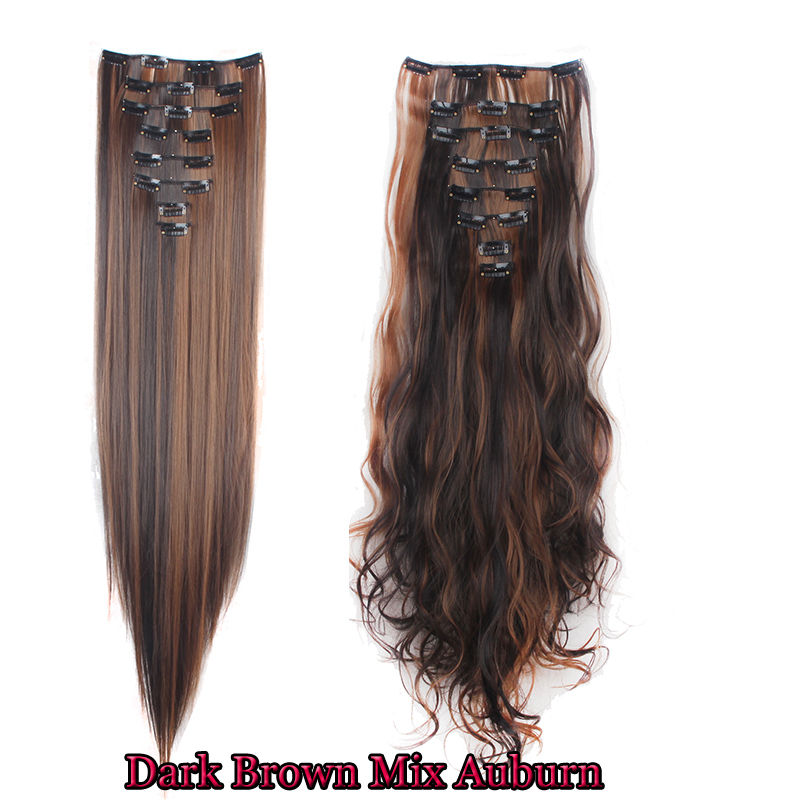 100 Natural Remy Clip In Hair Extensions 8 Pieces Full Head Long As