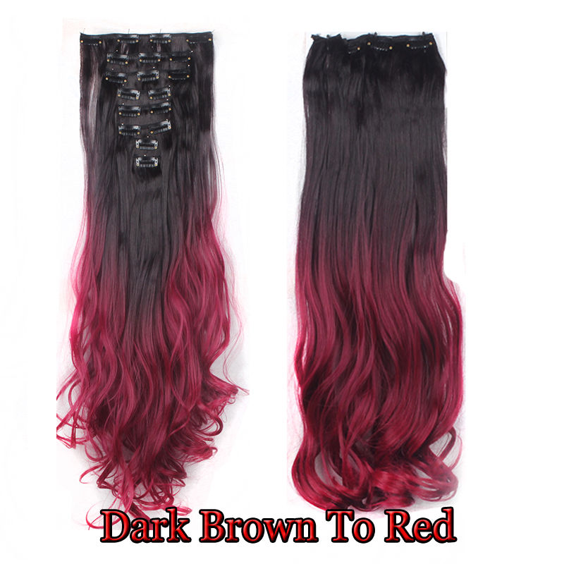 100 Similiar To Natural Clip In Hair Extensions 8 Pieces Full Head