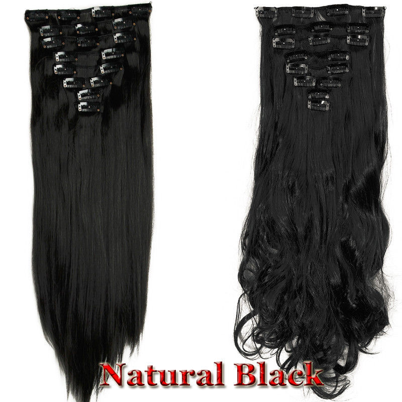 100 new 17 26 8pcs clip in full head hair extensions natural as 100 new 17 034 26 034 8pcs clip pmusecretfo Images