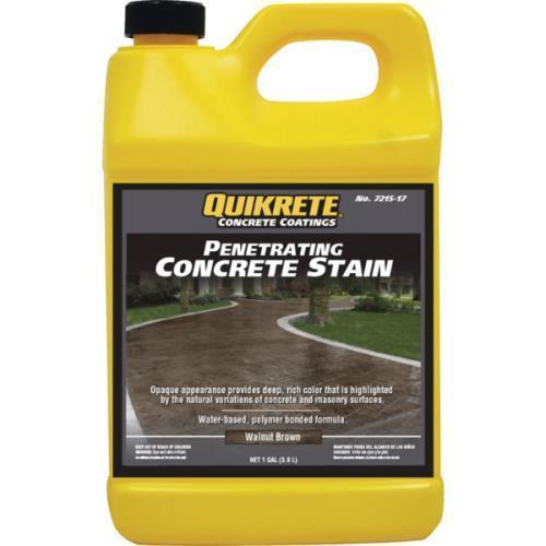 1 Gallon Quikrete Penetrating Concrete Stain Walnut Brown Ebay