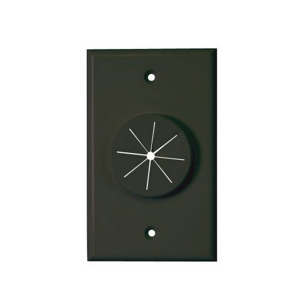 Midlite Single Gang Wireport Cable Pass Through Wall Plate With Grommet Black Ebay