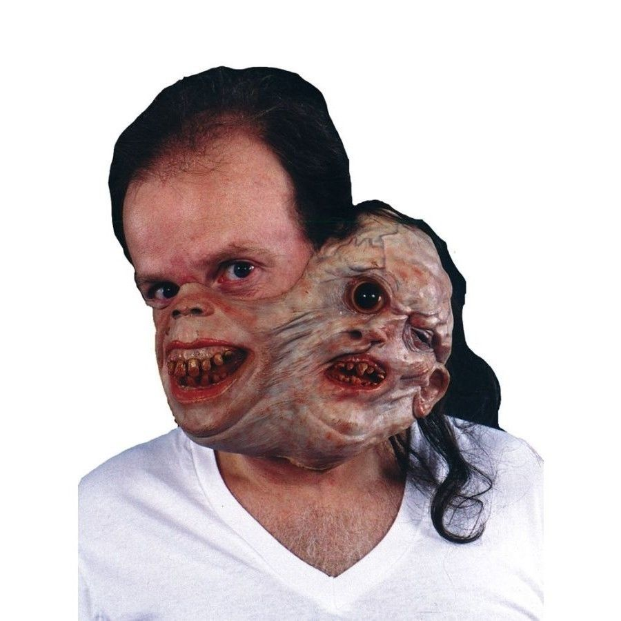 Morris Costumes TM132 Twosome Gruesome Half Masks with Latex Band ...