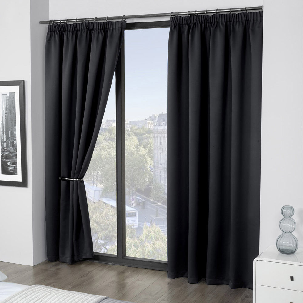 Cali Thermal Blackout Curtain Panels With Tape Top