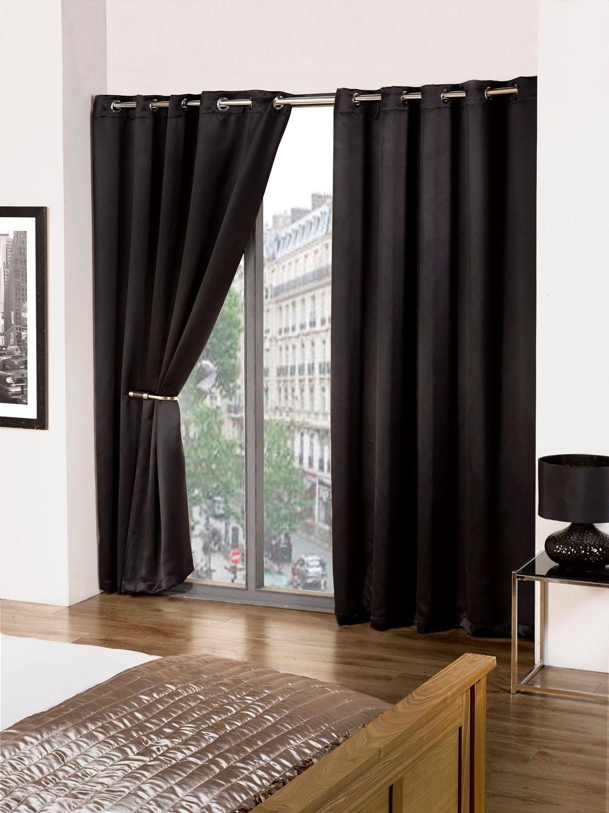 eco paire de rideaux thermiques occultants cali doux. Black Bedroom Furniture Sets. Home Design Ideas