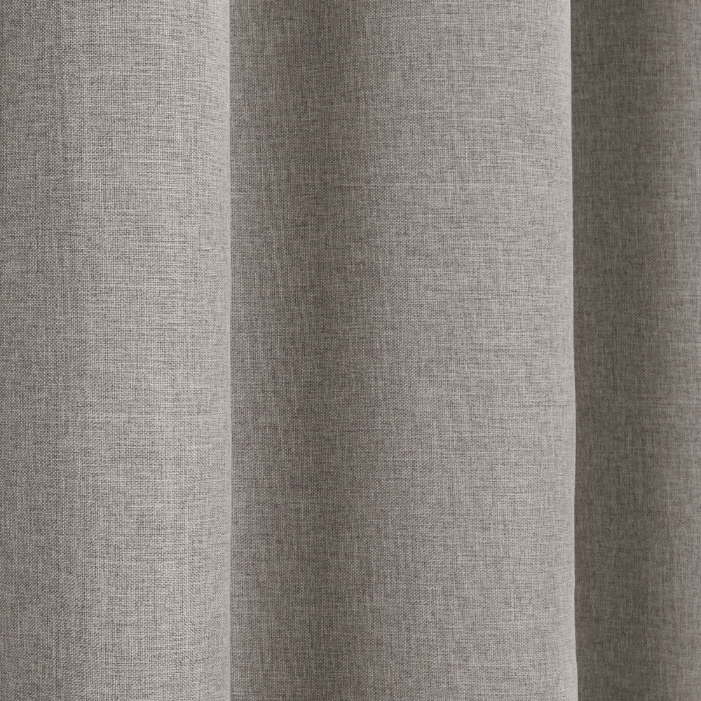 Textured Woven Linen Look Thermal Blackout Curtain Panels