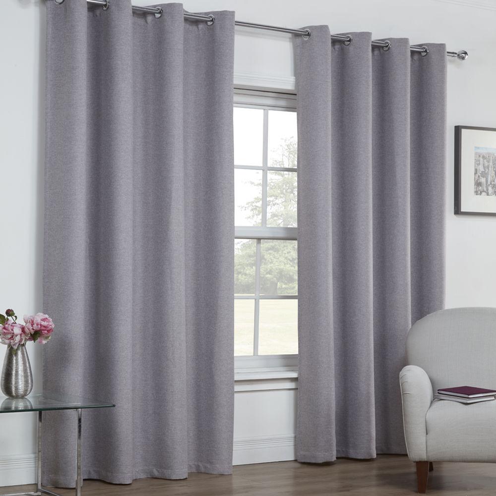 textured woven plain thermal blackout linen look eyelet. Black Bedroom Furniture Sets. Home Design Ideas