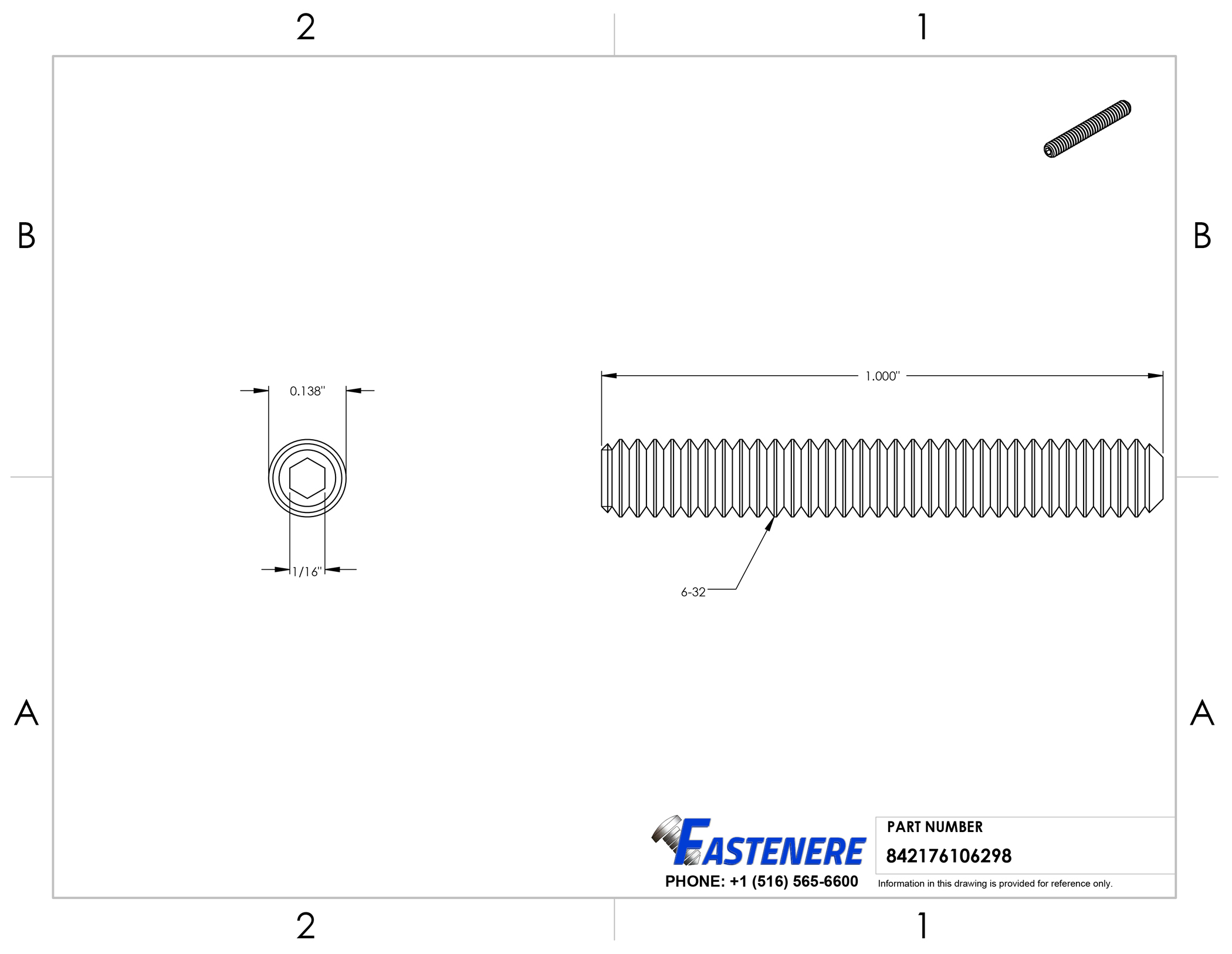 6-32-Socket-Set-Screws-Allen-Hex-Drive-Cup-Point-Stainless-Steel-18-8 thumbnail 5