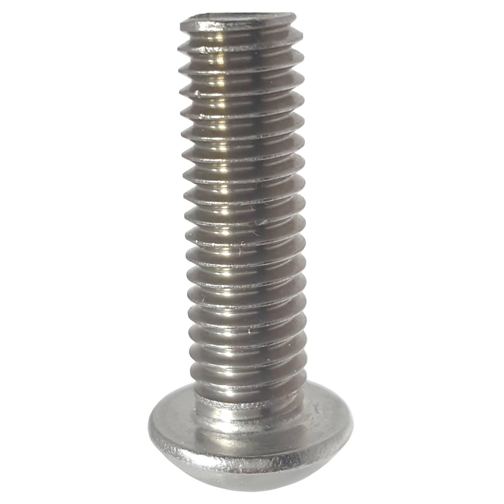 Linsenkopfschraube ISK 8-32 UNC x 3//8 schwarz Socket Button Head Screw Scl