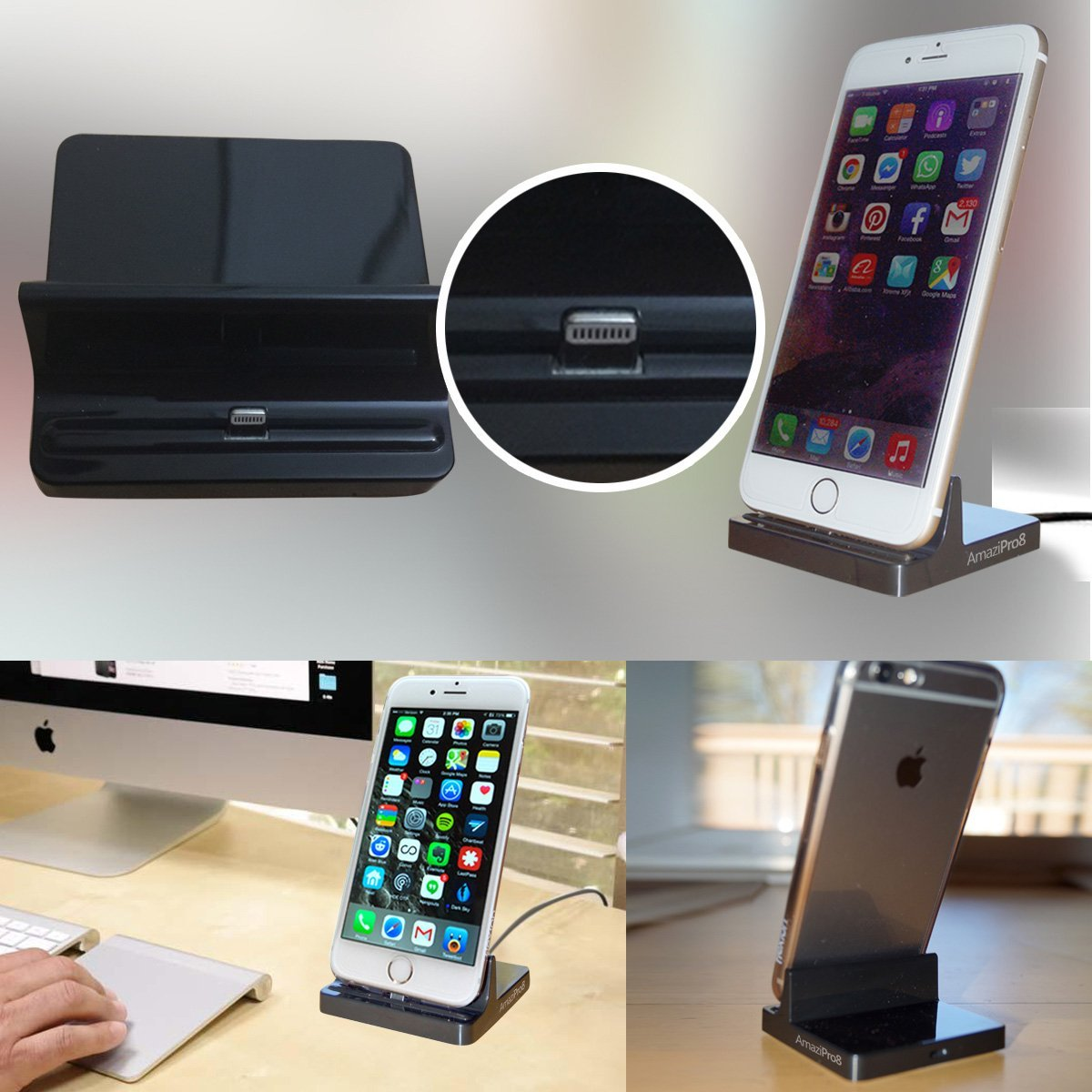 iphone charger docking station lightning dock stations stand charging station. Black Bedroom Furniture Sets. Home Design Ideas