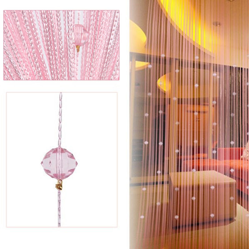 String Tassel Curtain Crystal Beads Door Window Panel