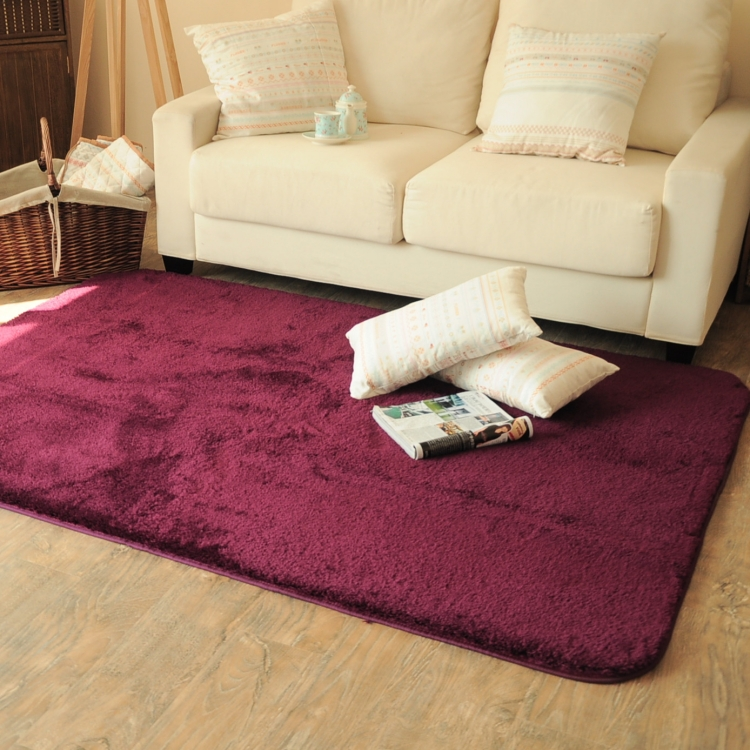rectangle soft fluffy rug anti