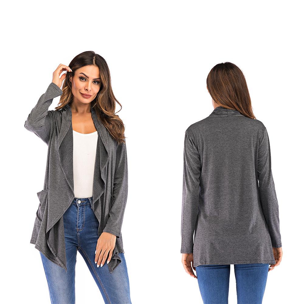 Fashion-Womens-Long-Sleeve-Draped-Hem-Open-Front-Lightweight-Cardigan-Size-S-3XL