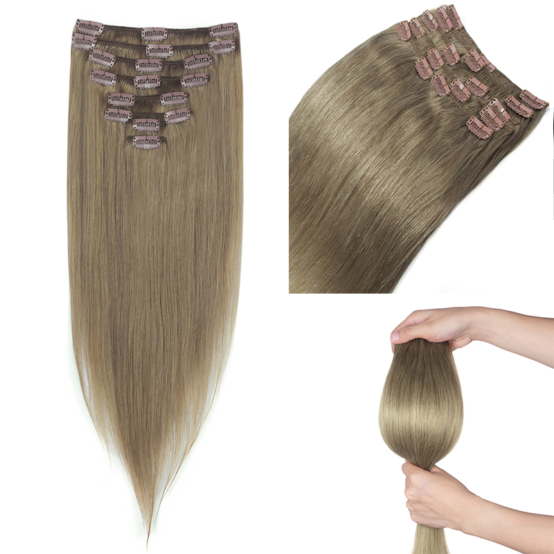 Top Selling Clip In Remy Human Hair Extensions Thick Double Weft