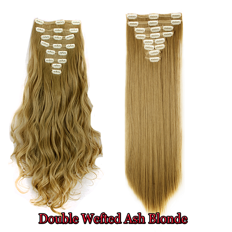 Us Local Fast Shipping Double Weft Full Head Clip In 8 Pcs Set Hair