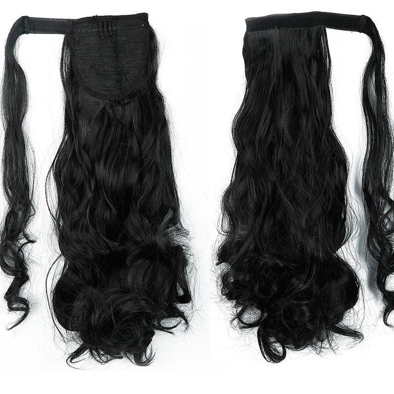 New Mega Real Thick Clip In Ponytail Hair Extensions Wrap Around