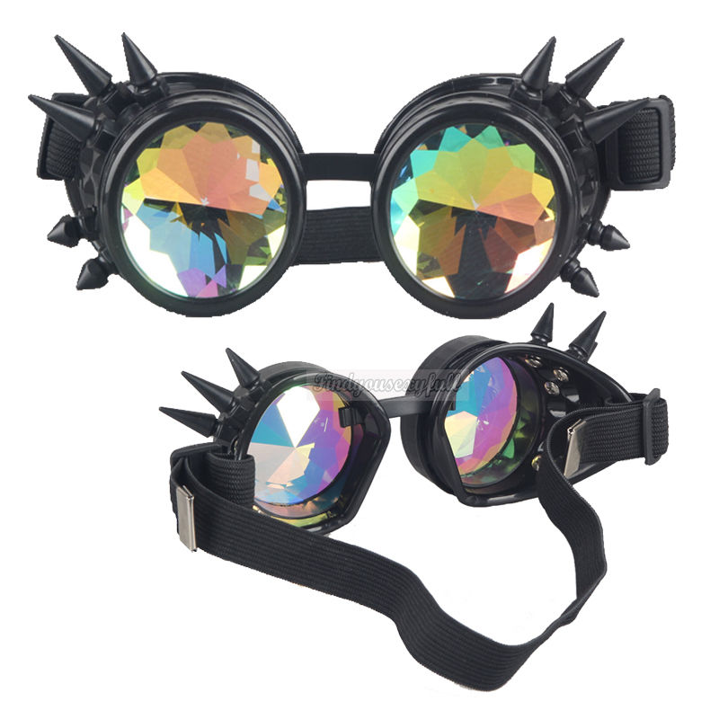 cyber steampunk motorcycle goggles motorbike scooter aviator helmet glasses uk ebay. Black Bedroom Furniture Sets. Home Design Ideas