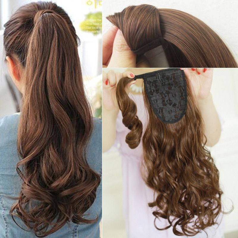 Beauty Real As Human Wrap Around Ponytail Clip In On Hair Extensions