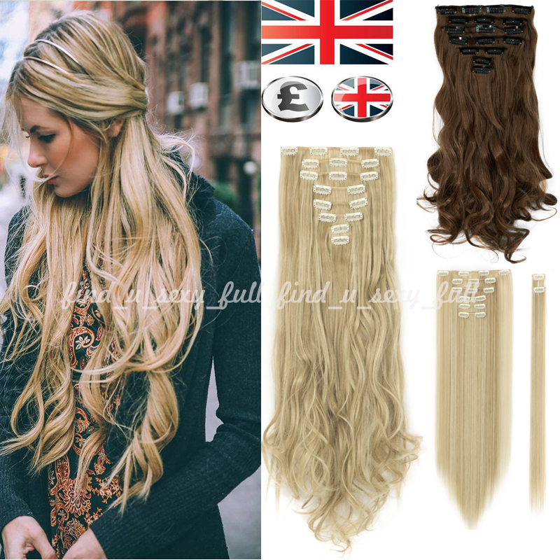 Uk Sale Real Thick Good 8 Piece Clip In 10 Remy Human Hair