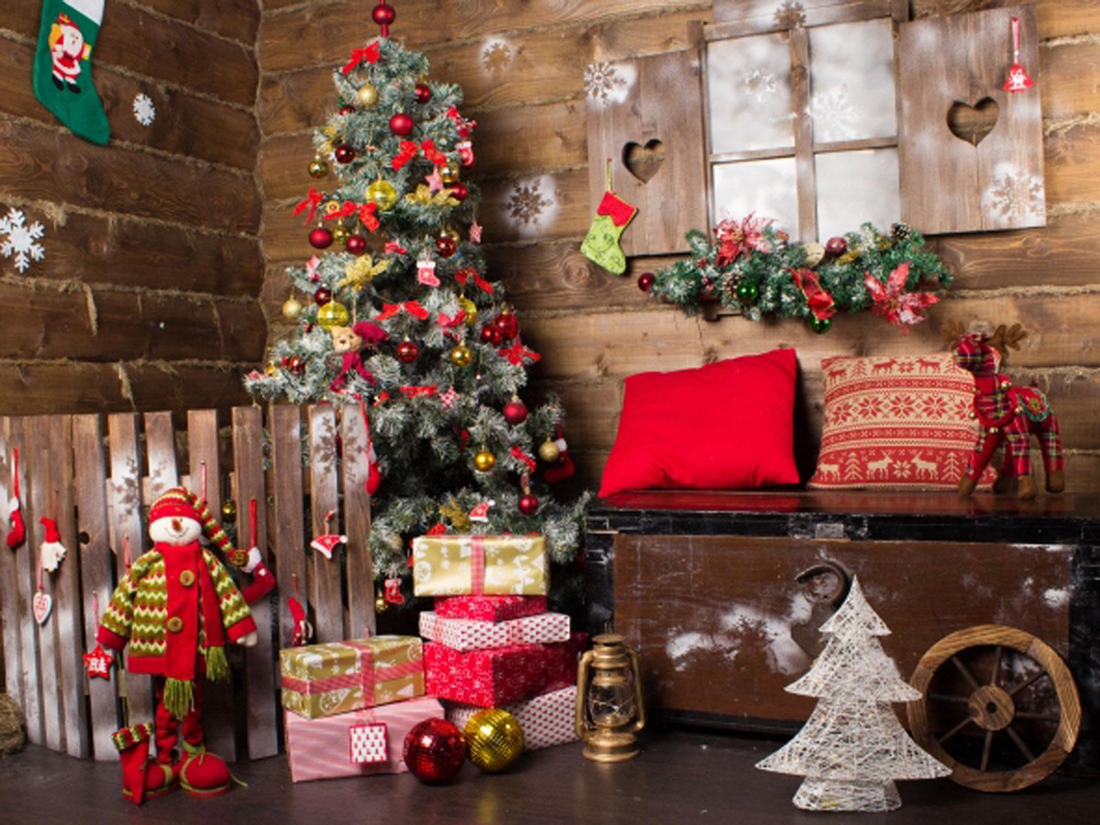 Merry Christmas Photography Backdrop Family Photo Shoot