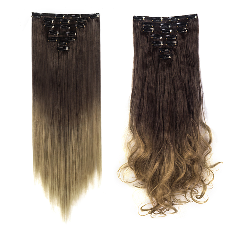 100-Natural-7-Pieces-as-Remy-Human-Hair-Clip-in-Double-Weft-Hair-Extensions
