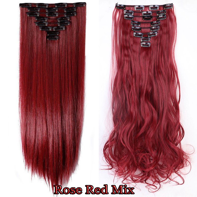 8 Pieces Clip In Hair Extensions 18 Clips
