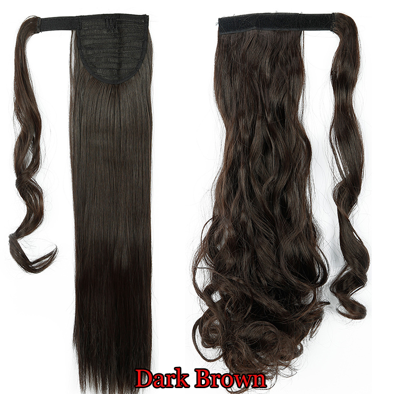 Real Silky Remy Hair Extensions Wrap Around Ponytail As Human Clip
