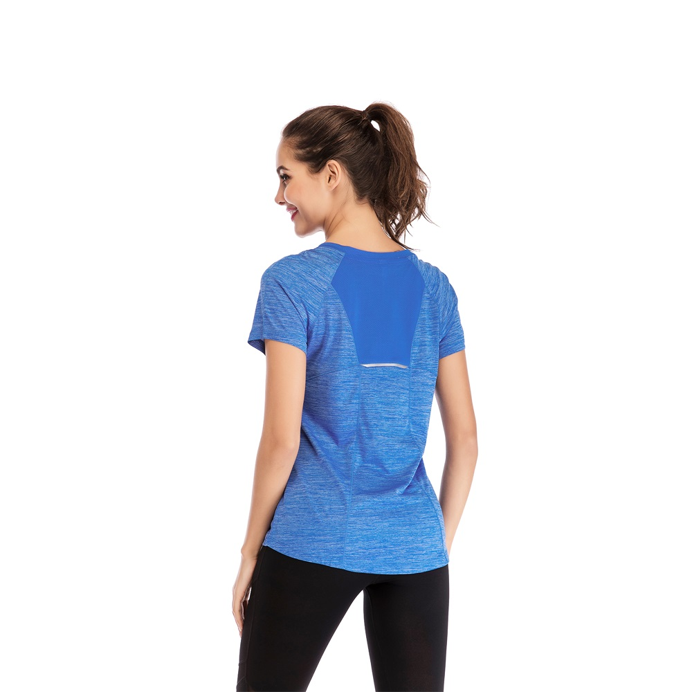 Women/'s Short Sleeve Yoga Fitness Stretch Workout T-Shirt Tee Tops Breathable US