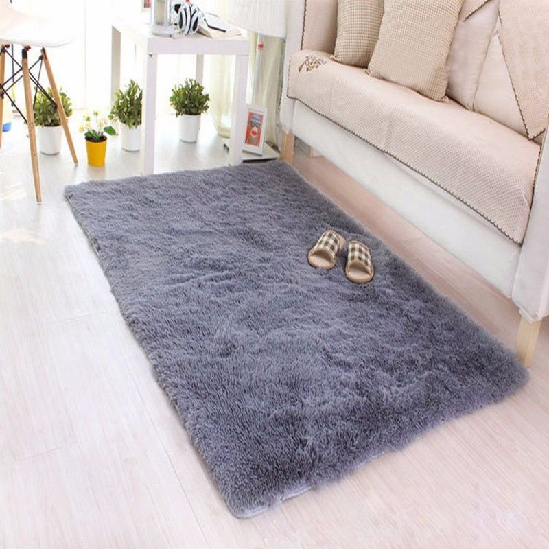 Shaggy Fluffy Rugs Anti-Skid Area Rug Dining Room Carpet