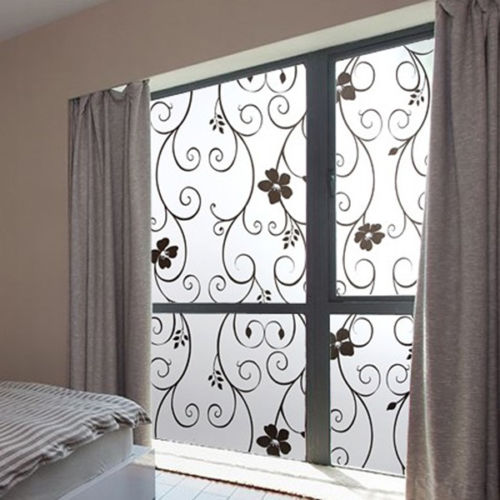 Cloud Window Curtains 3d Printing Nautical Home Decor: Frosted Privacy 3D Flower Window Glass Film Sticker