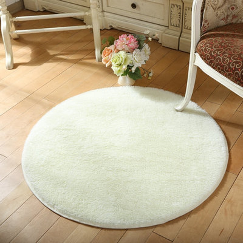 Round Dining Room Rugs: Round Fluffy Rugs Anti-Skid Shaggy Dining Room Home