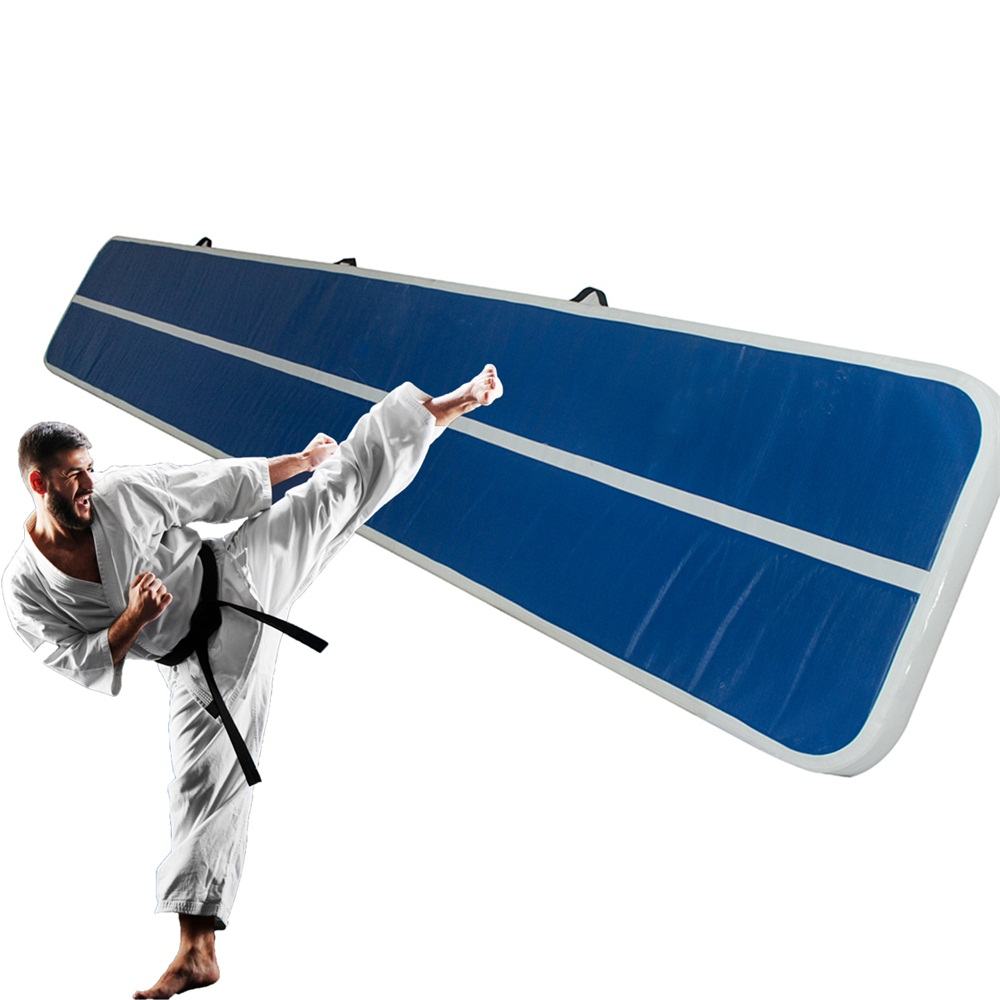 Inflatable-Gymnastics-mat-Exercise-Mats-Crash-Floor-Thick-Tumbling-Yoga-Home-Gym miniature 3