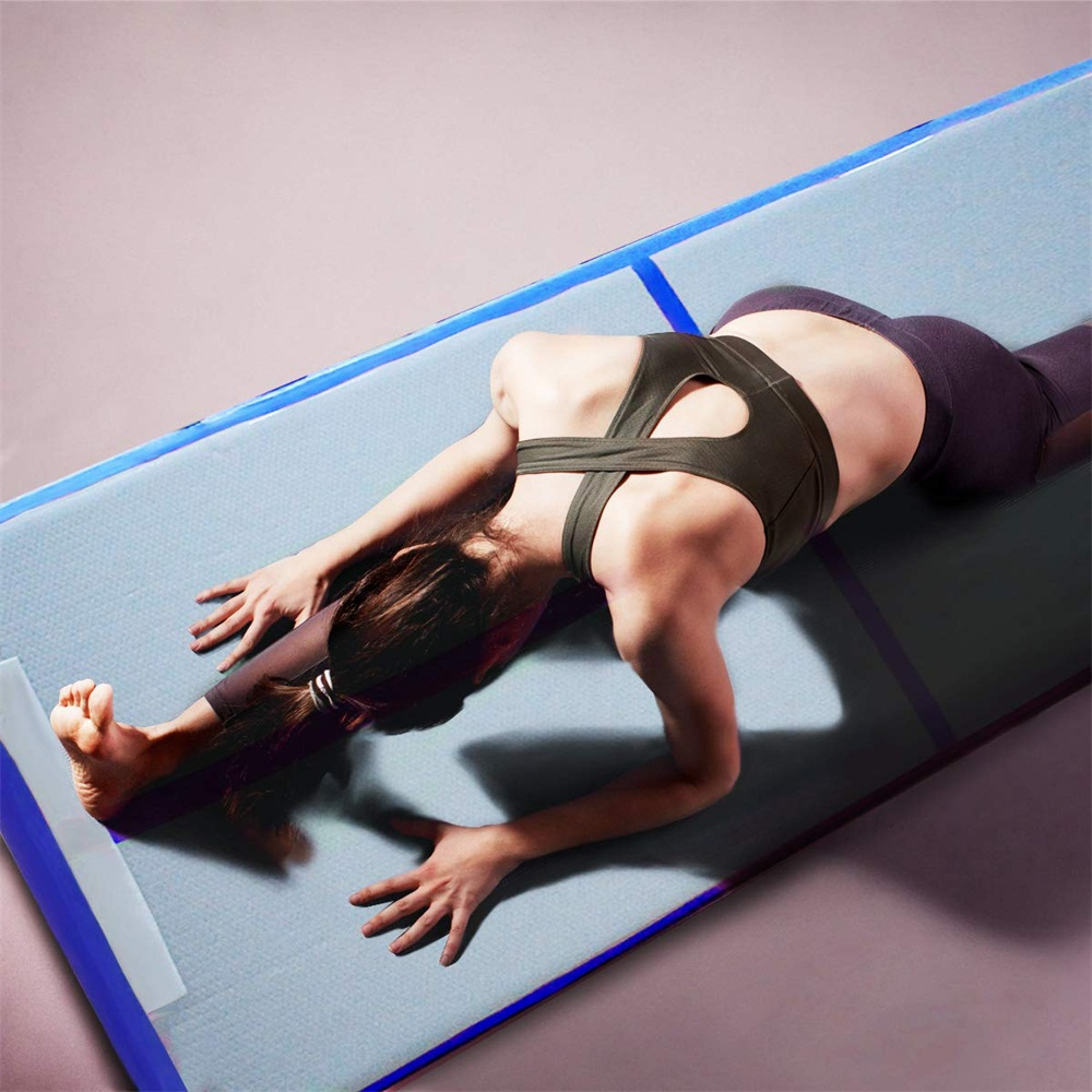 Inflatable-Gymnastics-mat-Exercise-Mats-Crash-Floor-Thick-Tumbling-Yoga-Home-Gym miniature 4
