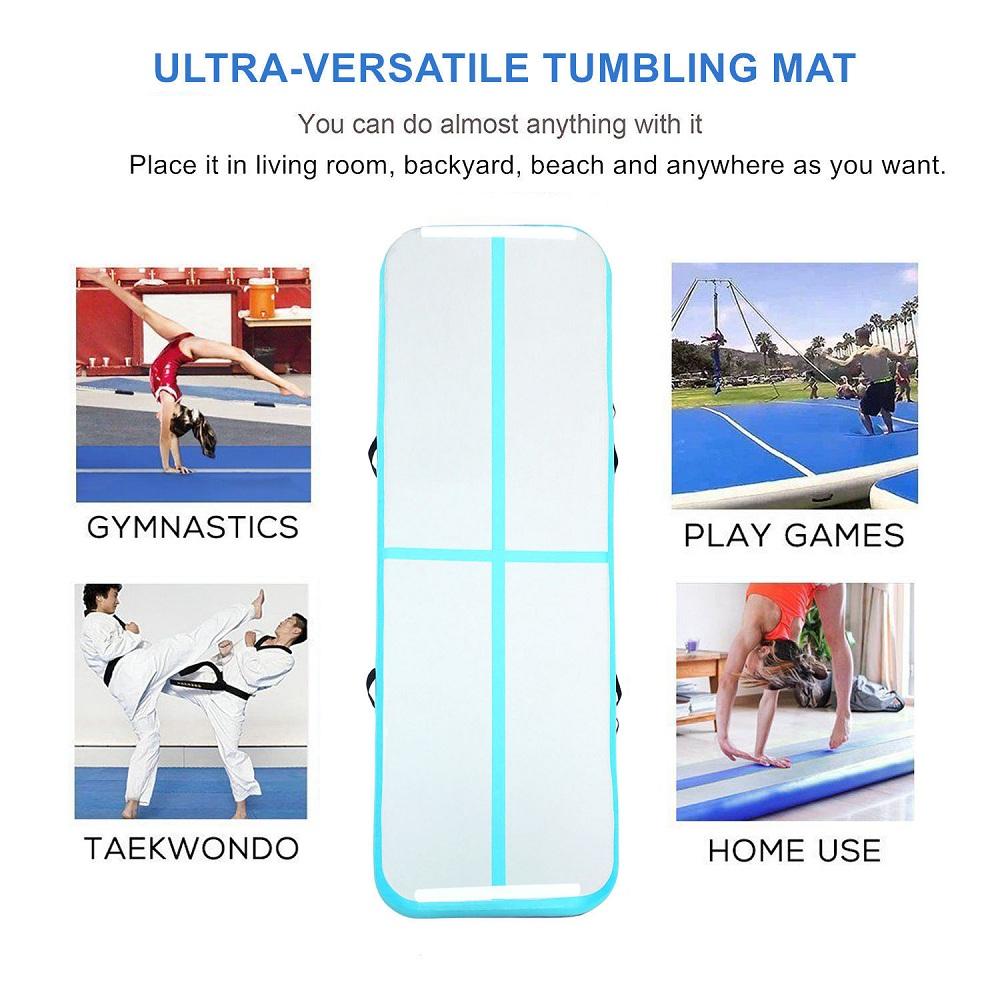 Inflatable-Gymnastics-mat-Exercise-Mats-Crash-Floor-Thick-Tumbling-Yoga-Home-Gym miniature 5