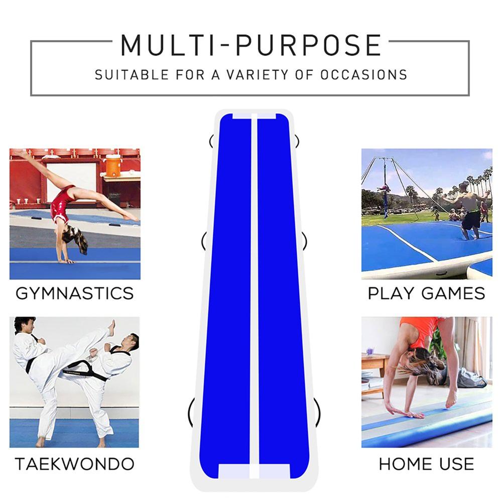 Inflatable-Gymnastics-mat-Exercise-Mats-Crash-Floor-Thick-Tumbling-Yoga-Home-Gym miniature 6