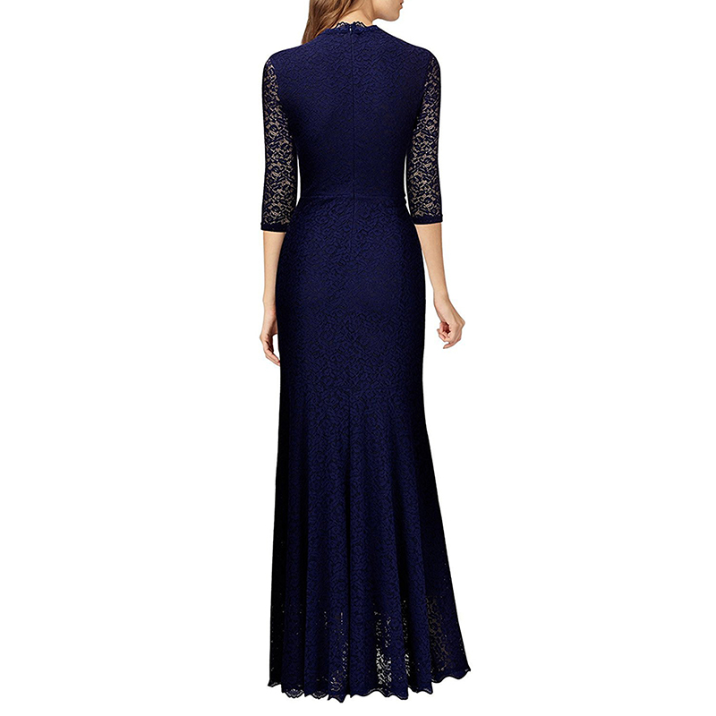 Women Lace Fishtail Evening Dress Ball Gown Prom Party Formal Long ...