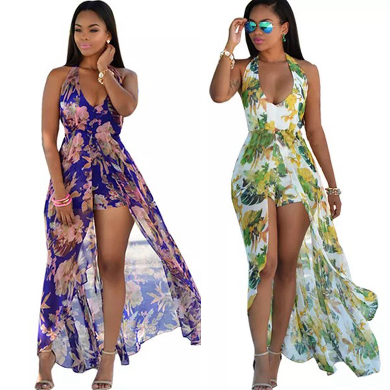 4d112165d56 Details about Sexy Women Chiffon Jumpsuit Romper Short Trouser Bodycon  Clubwear Playsuit Dress