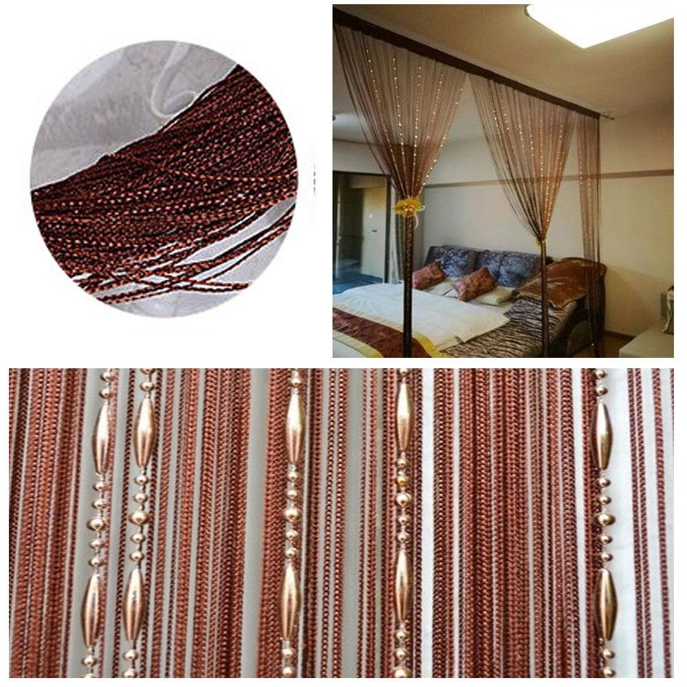 Beaded String Door Window Curtains Patio Divider Room Blind Tassel