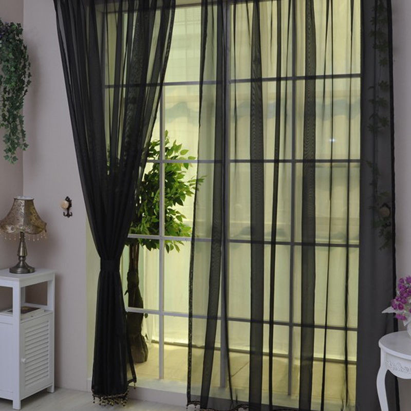 Voile Cafe Net Curtain Panel Slot Top Window