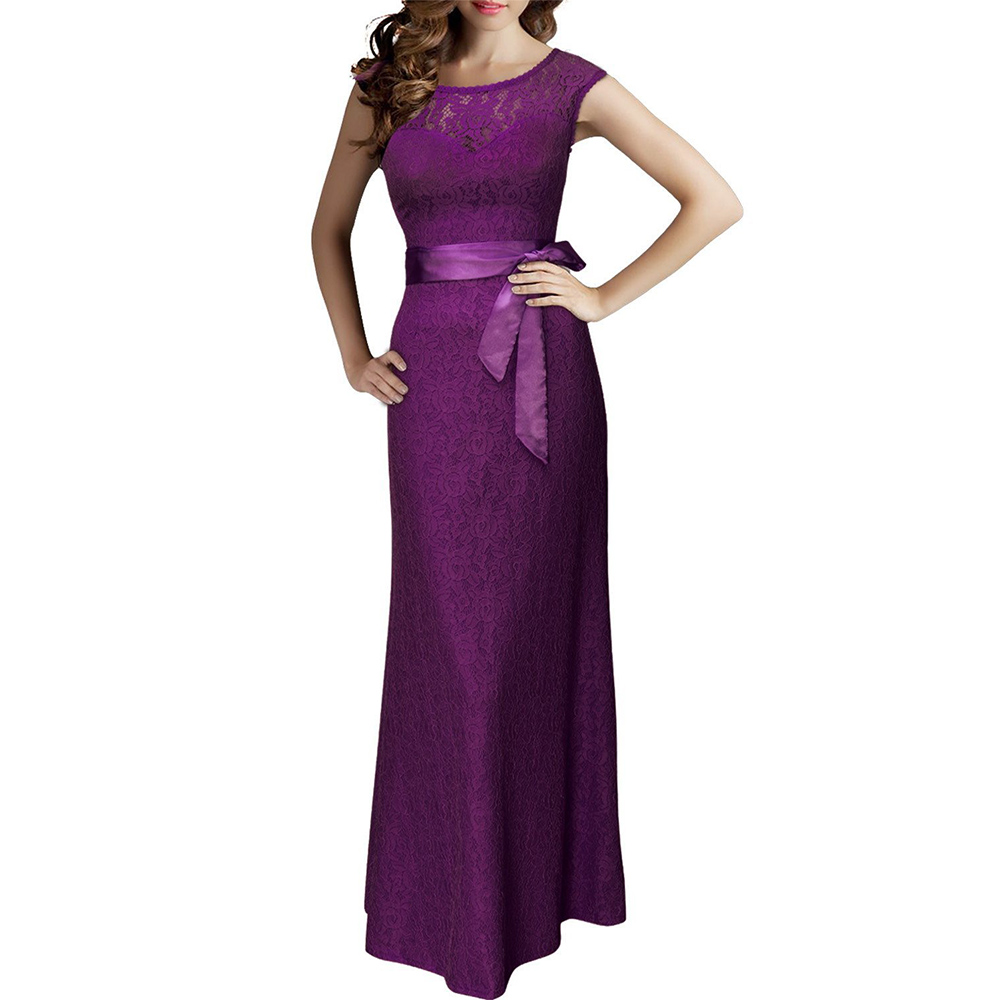 Women Deep V-back Bridesmaid Maxi Long Dress Formal Bodycon Cocktail ...