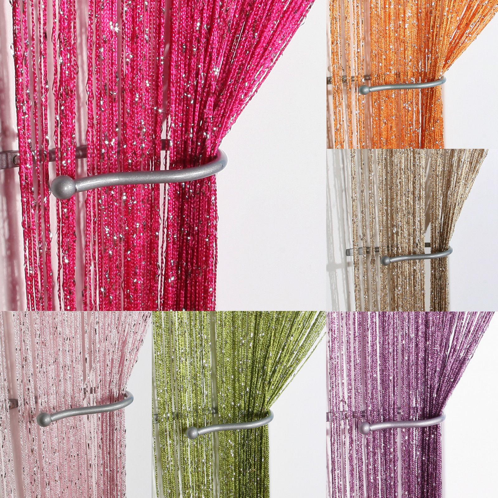 String Door Curtain Beads Room Divider Crystal Tassel Fringe Beaded