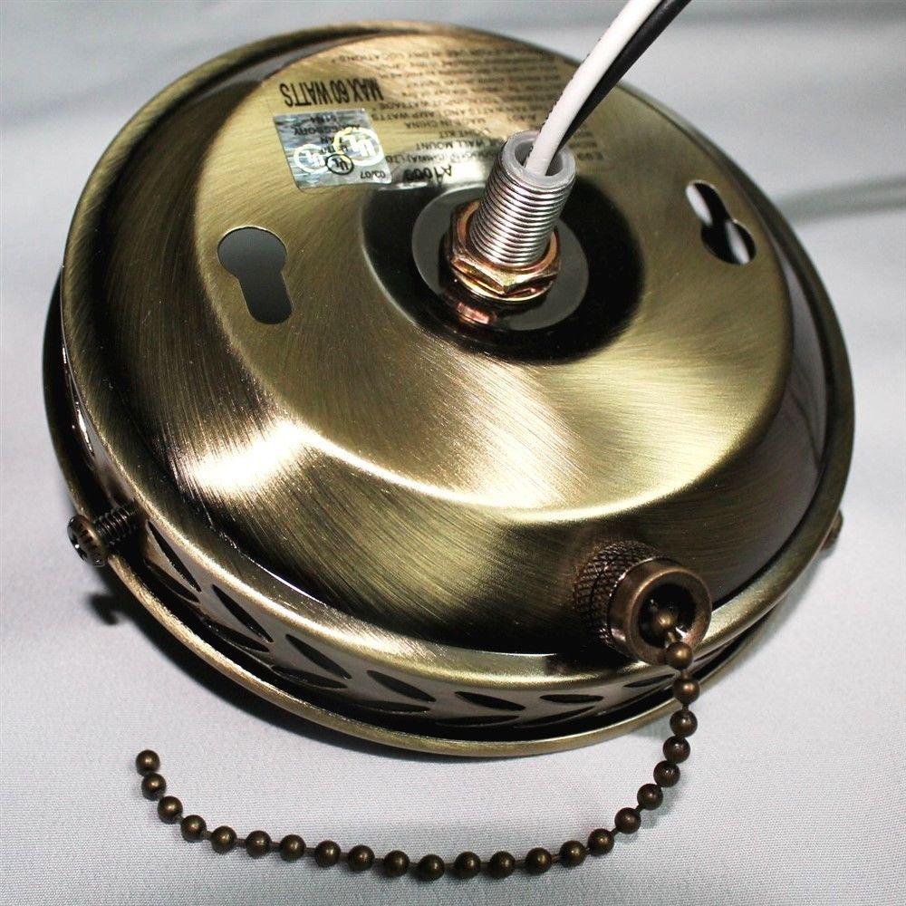 "Ceiling Fan Cap 4"" Light Lamp Kit Candle Socket Pull Chain"