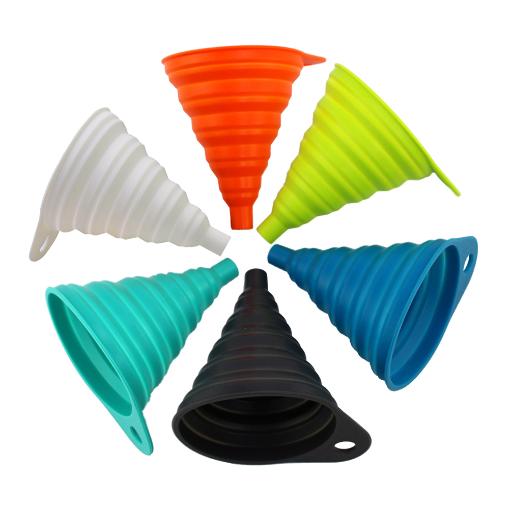 image is loading tritina home amp kitchen foldable funnel silicone collapsible - Kitchen Funnel